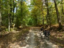 Vélo sur CR 29 de Cerdon